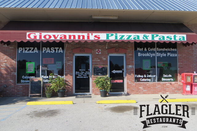 Giovanni's Pizza & Pasta, Flagler Beach
